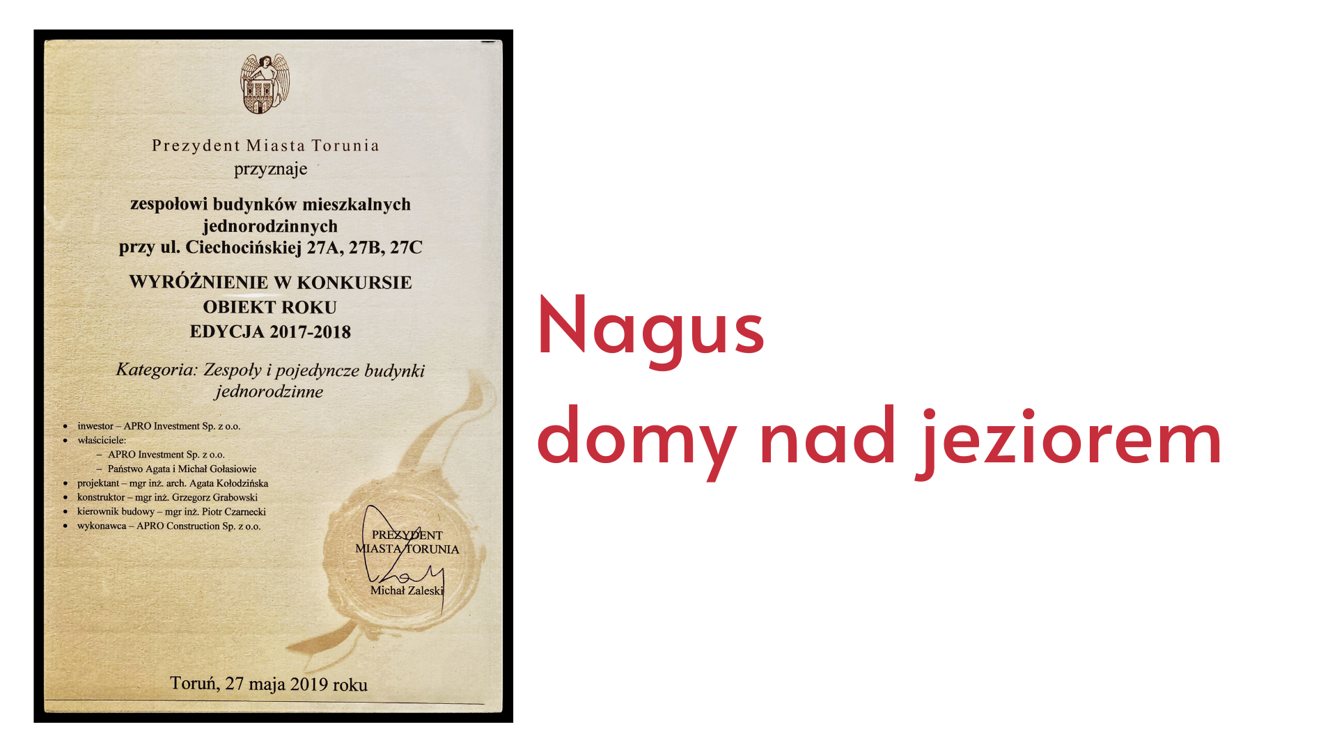 Domy Nagus Apro Investment
